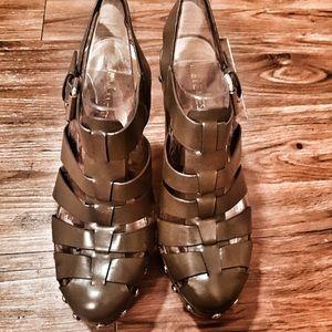NINE WEST boho platform sandals.